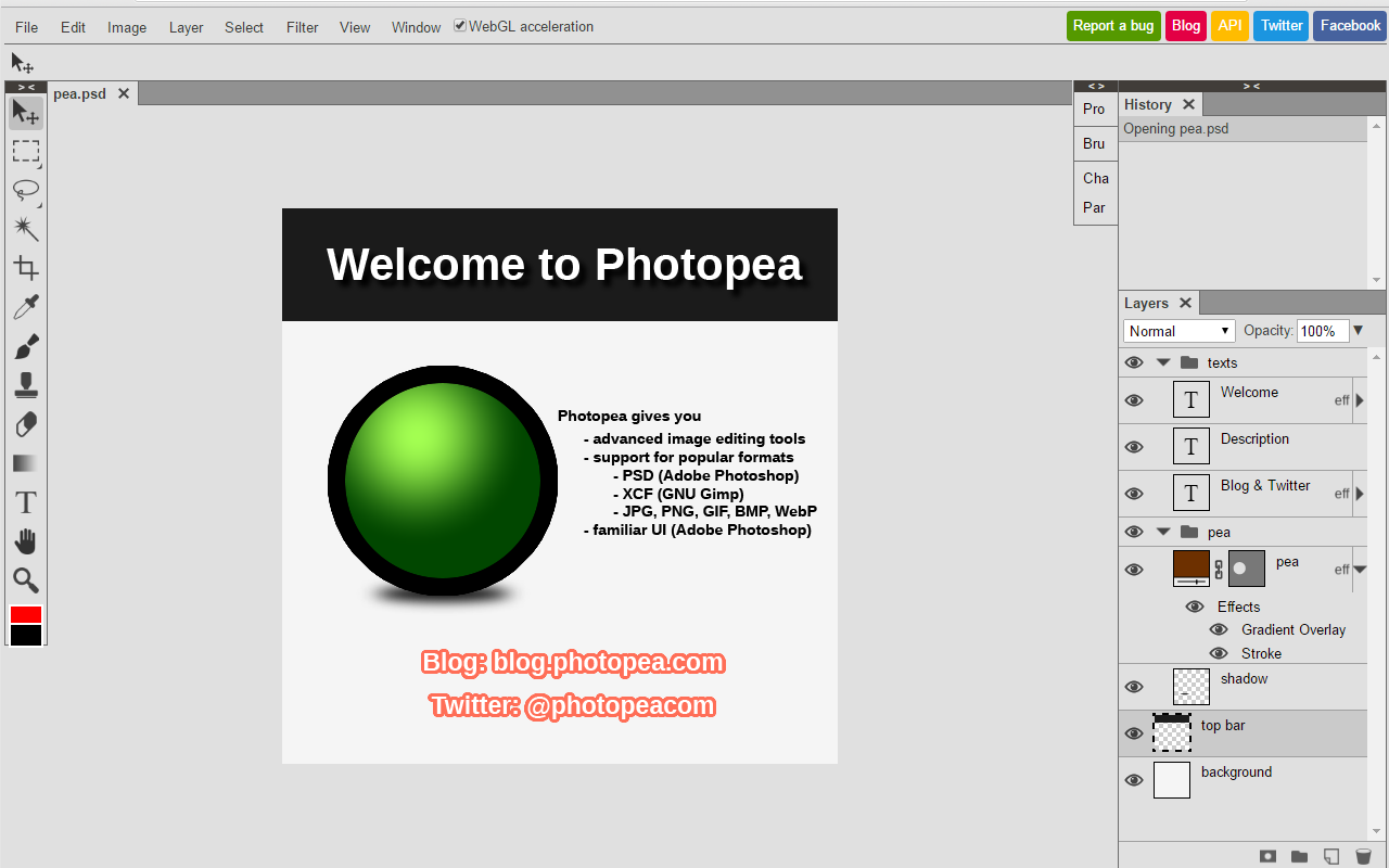 Photopea Photo Editor — Edit Photoshop File Online